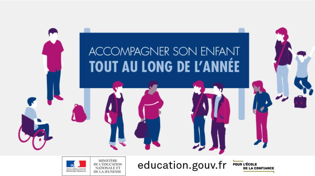 Cliquez ici pour visiter le site de l'Education Nationale sur Accompagner son enfant tout au long de l'année