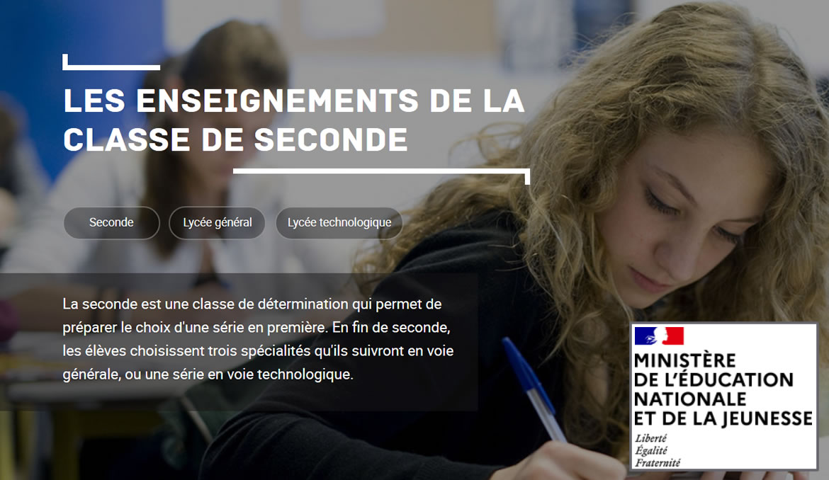 Les enseignements de la Seconde - Site de l'Education Nationale